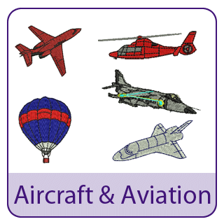 Aircraft Embroidery Designs