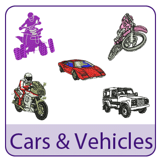 Cars and Vehicles Embroidery Designs