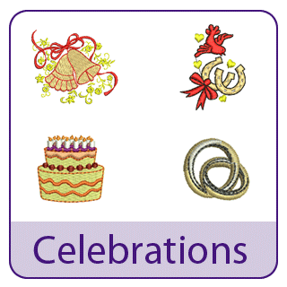 Celebration and Wedding Embroidery Designs