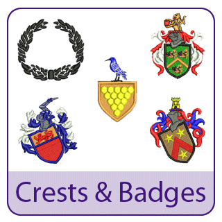 Crest and Badge Embroidery Designs