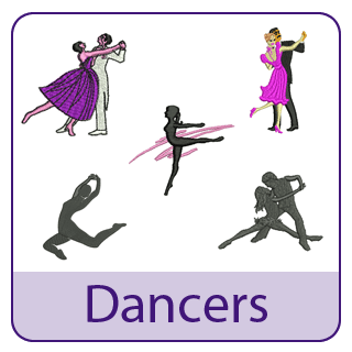 Dancer Embroidery Designs