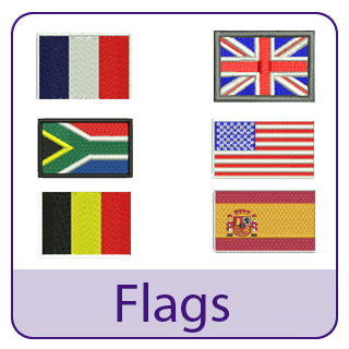 Flags Embroidery Designs