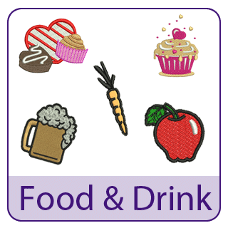 Food and Drink Embroidery Designs