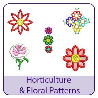 Horticulture Embroidery Designs