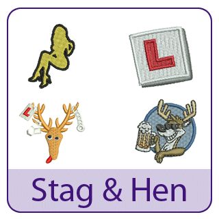 Stag and Hen Embroidery Designs
